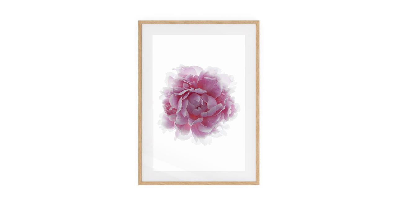 The Blossom Print Natural Wood Frame Medium Three