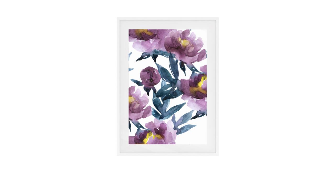 The Botanic Print White Wood Frame Medium