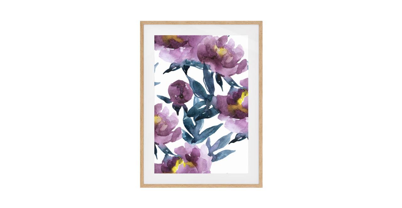 The Botanic Print Natural Wood Frame Medium