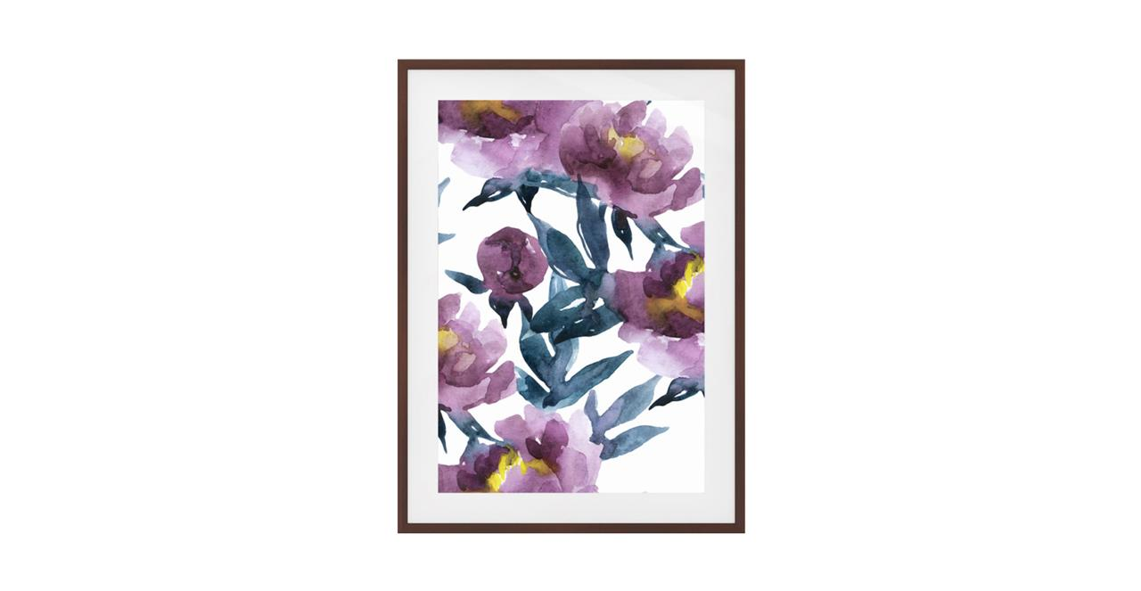 The Botanic Print Dark Brown Wood Frame Medium