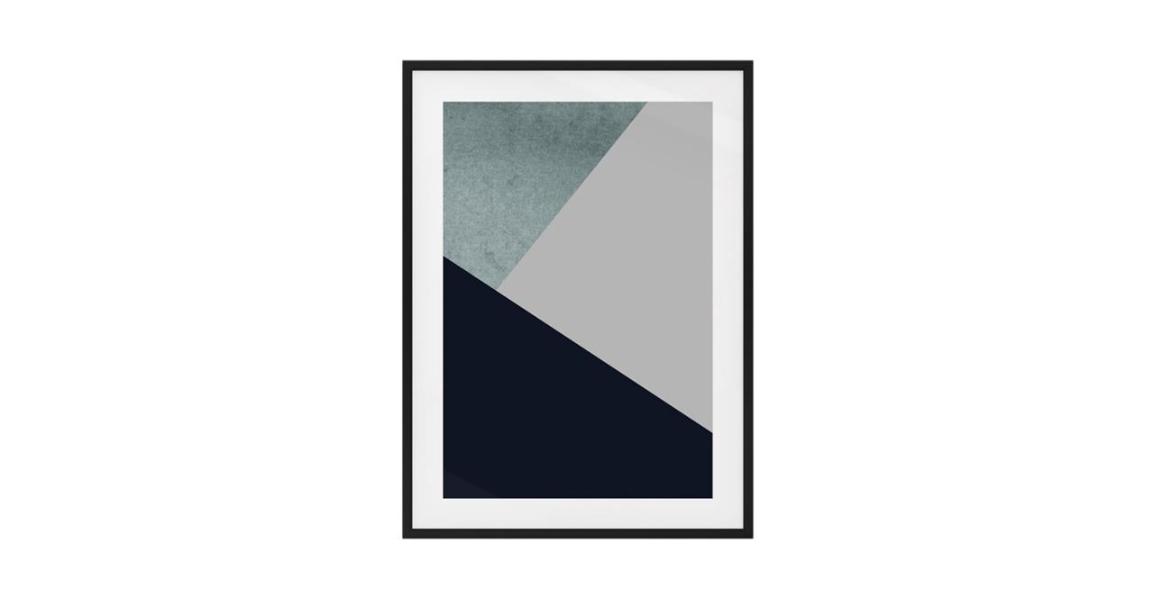 The Angles Print Black Wood Frame Small