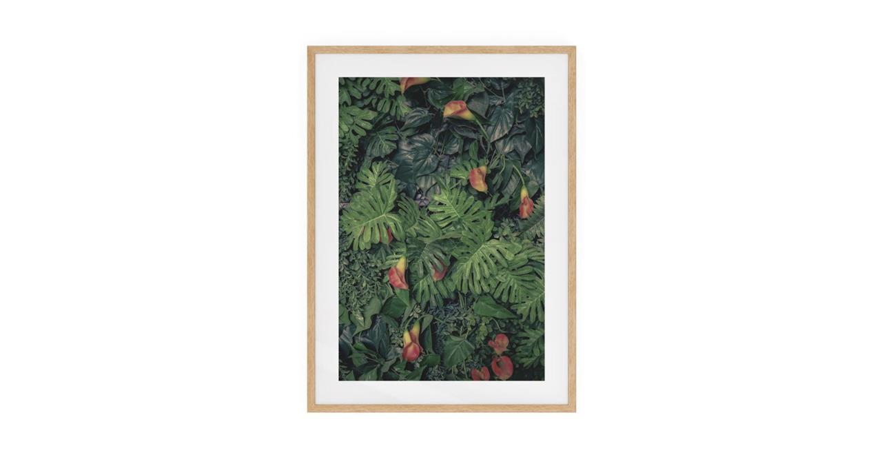 The Arum Print Natural Wood Frame Small