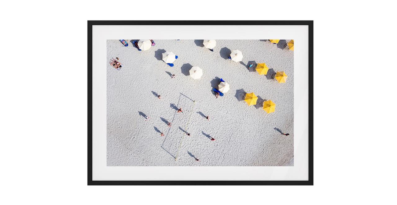 The Beach Print Black Wood Frame Medium