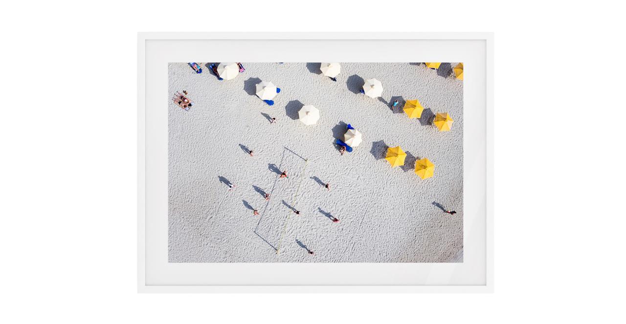The Beach Print White Wood Frame Medium