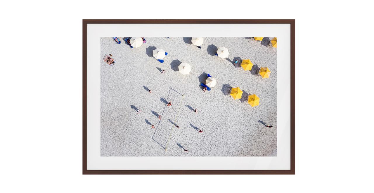 The Beach Print Dark Brown Wood Frame Medium