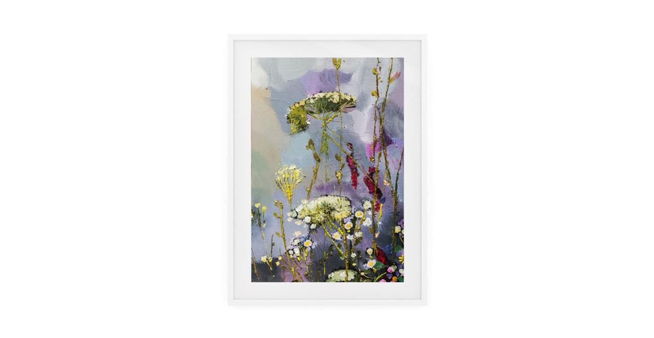 The Bloom Print White Wood Frame Small