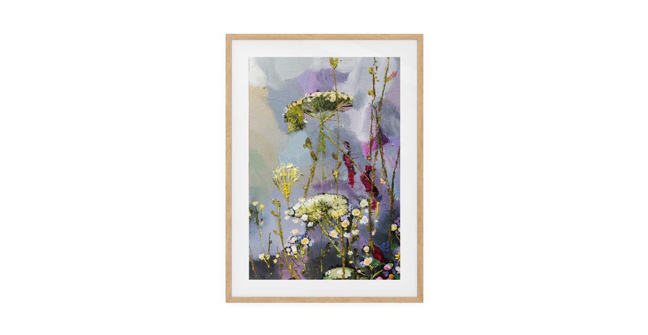The Bloom Print Natural Wood Frame Medium