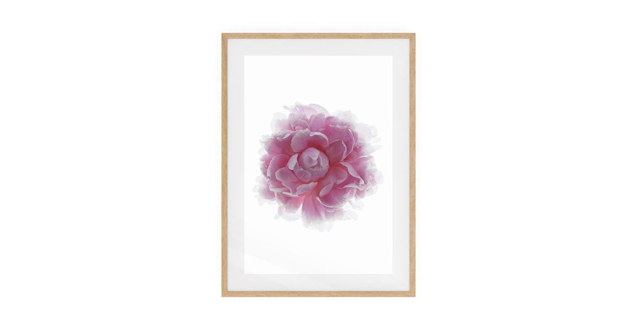 The Blossom Print Natural Wood Frame Medium Two