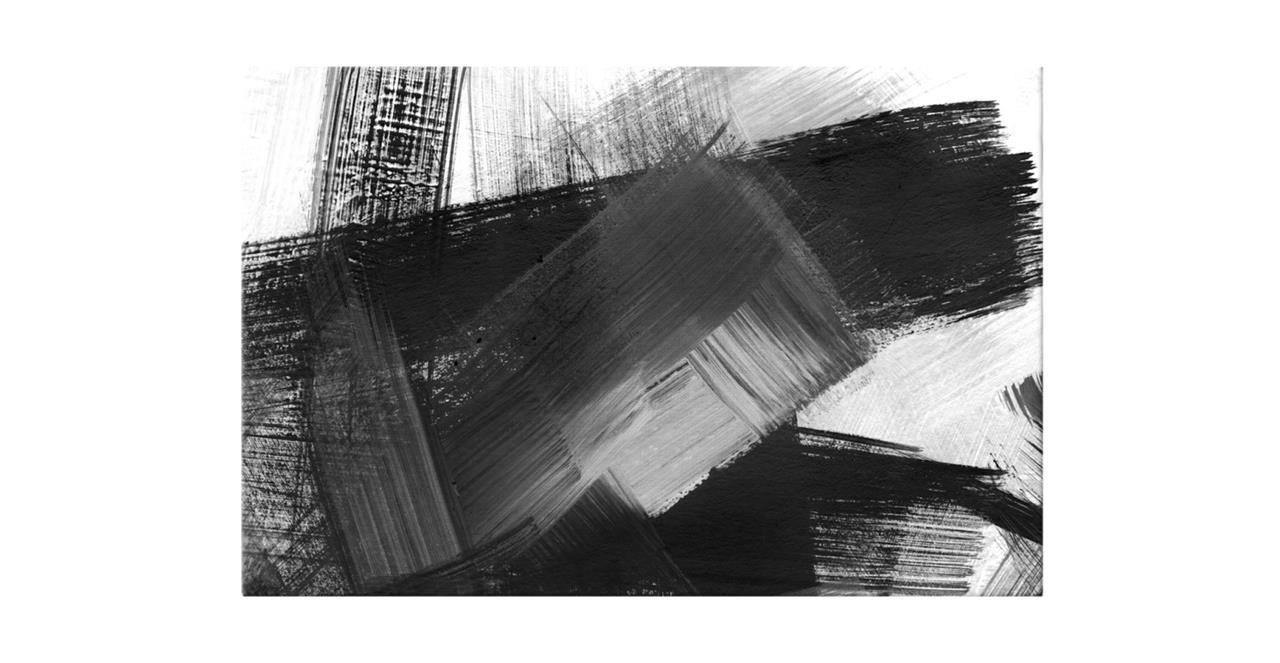The Brush Print Canvas Medium