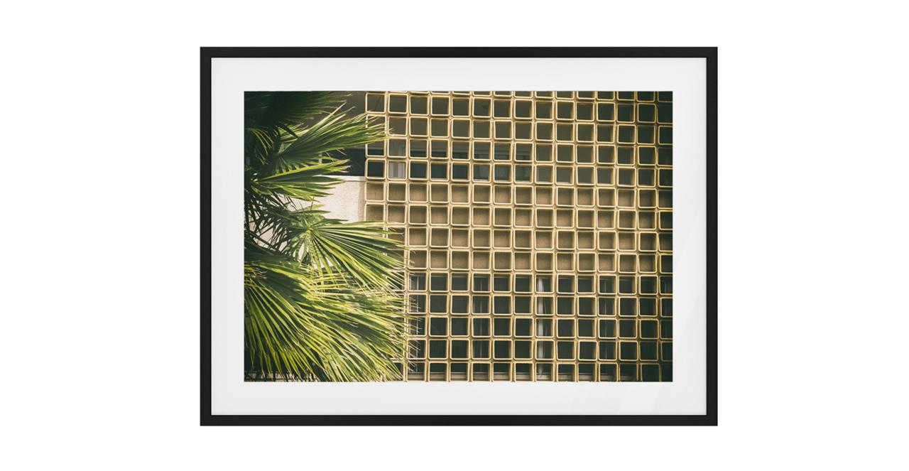The California Print Black Wood Frame Small