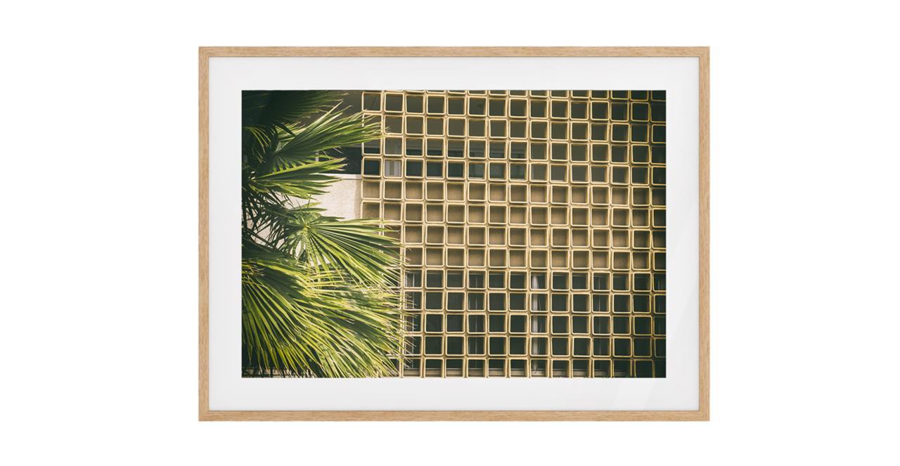 The California Print Natural Wood Frame Small