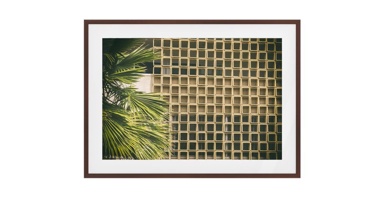 The California Print Dark Brown Wood Frame Medium