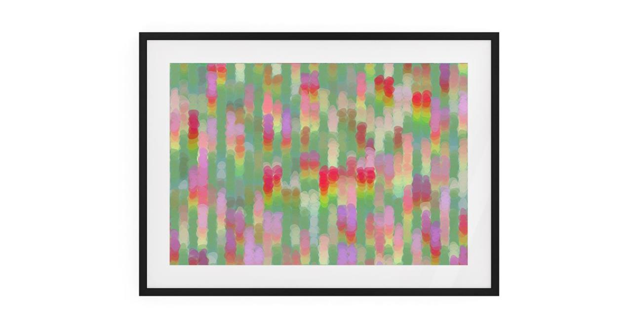The Candy Print Black Wood Frame Small