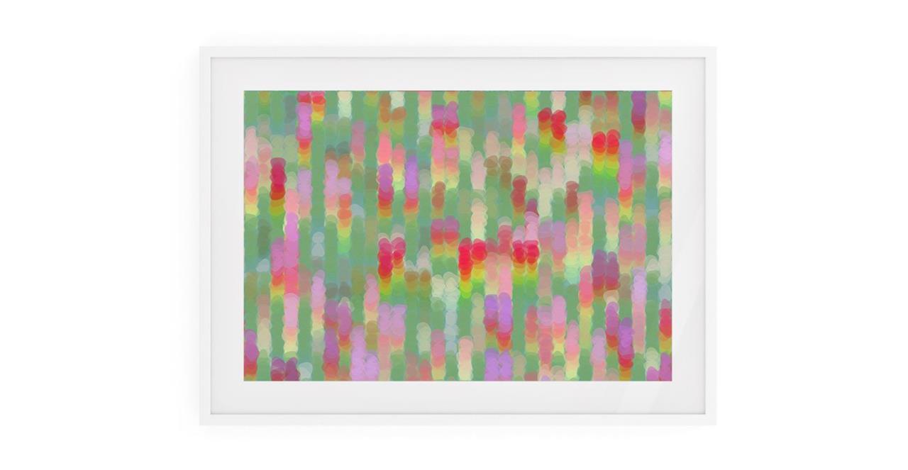 The Candy Print White Wood Frame Medium