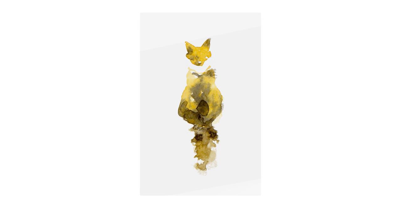The Caramel Cat Print Metal Print Small