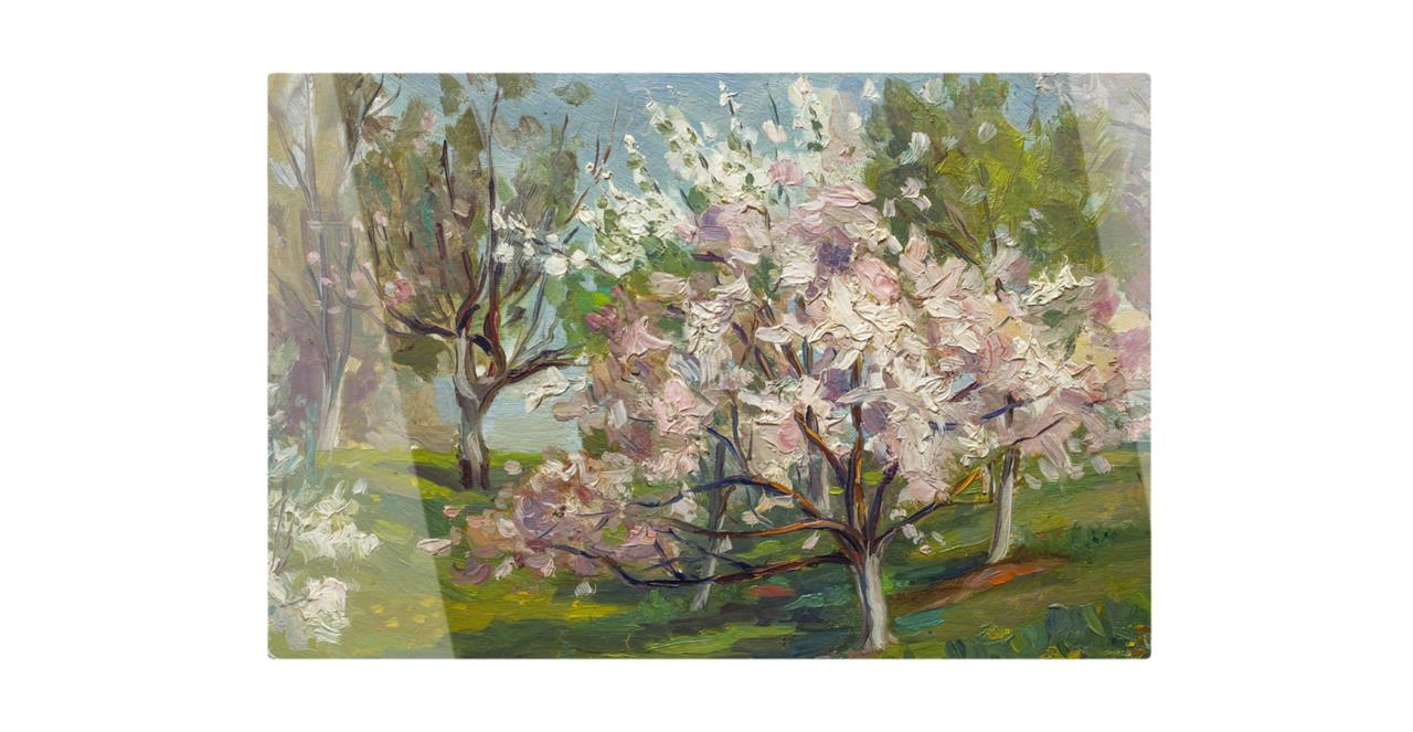 The Cherry Blossom Print Metal Print Medium