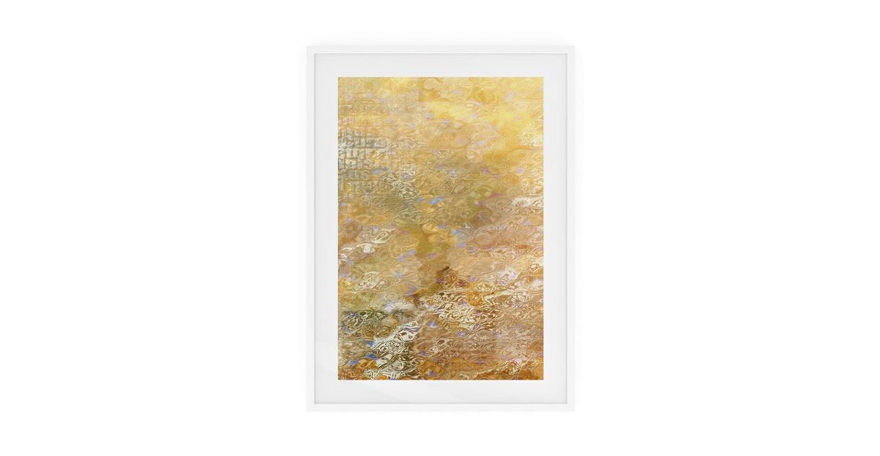 The City Sun Print White Wood Frame Small Morning