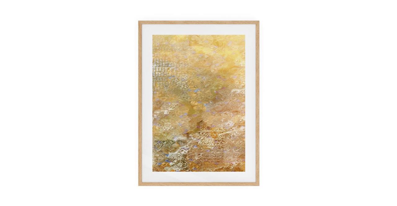 The City Sun Print Natural Wood Frame Small Morning