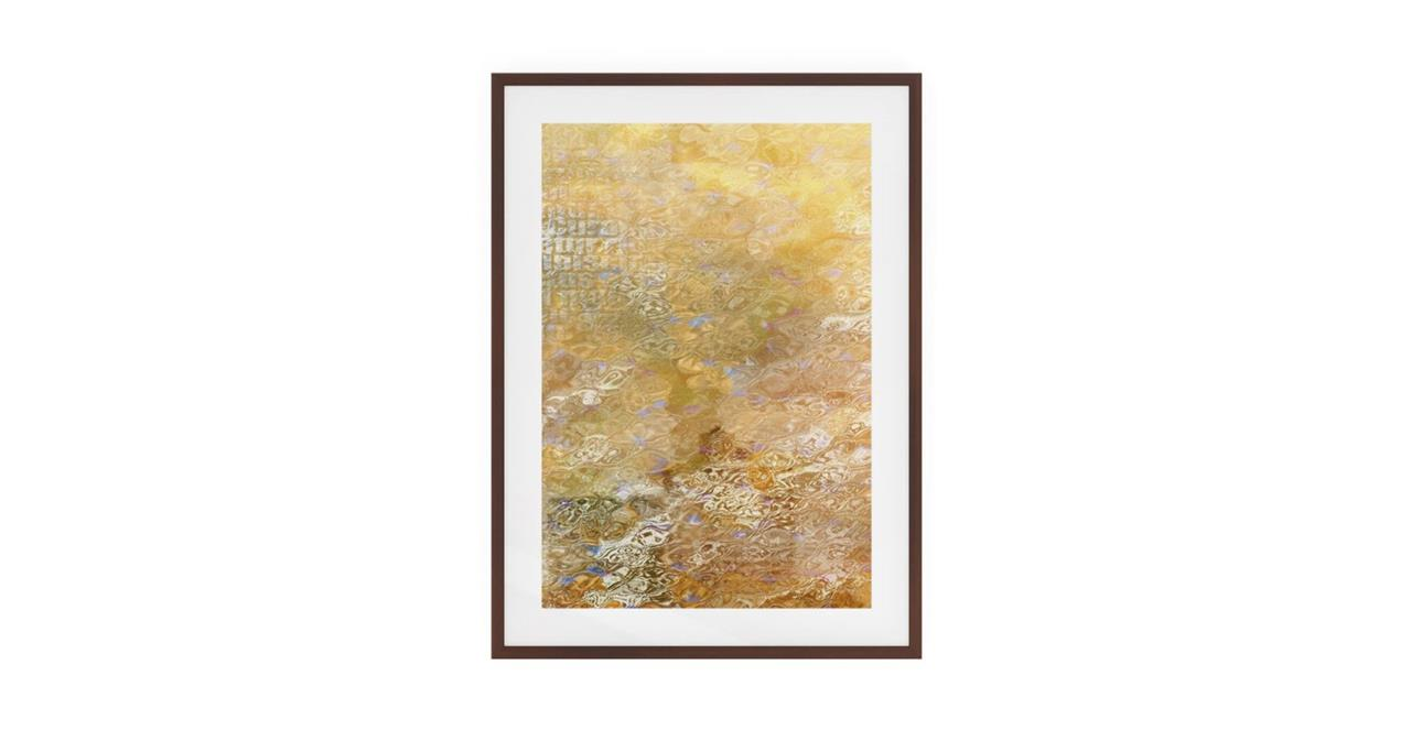 The City Sun Print Dark Brown Wood Frame Medium Morning