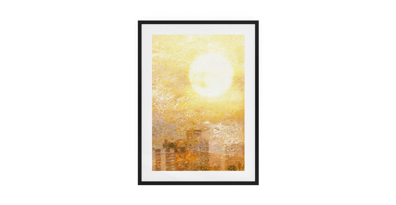 The City Sun Print Black Wood Frame Small Midday