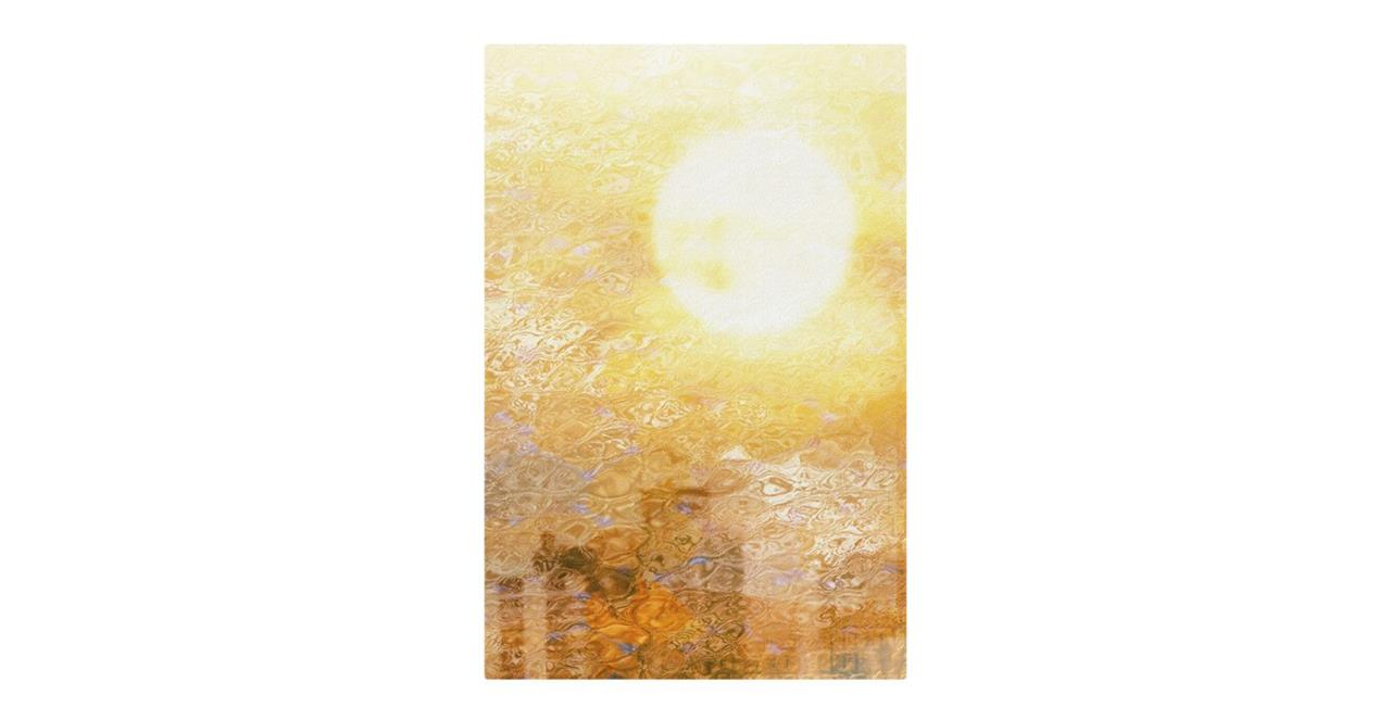 The City Sun Print Metal Print Medium Midday