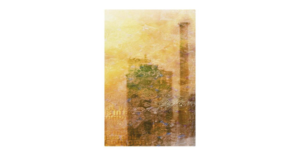 The City Sun Print Metal Print Small Afternoon