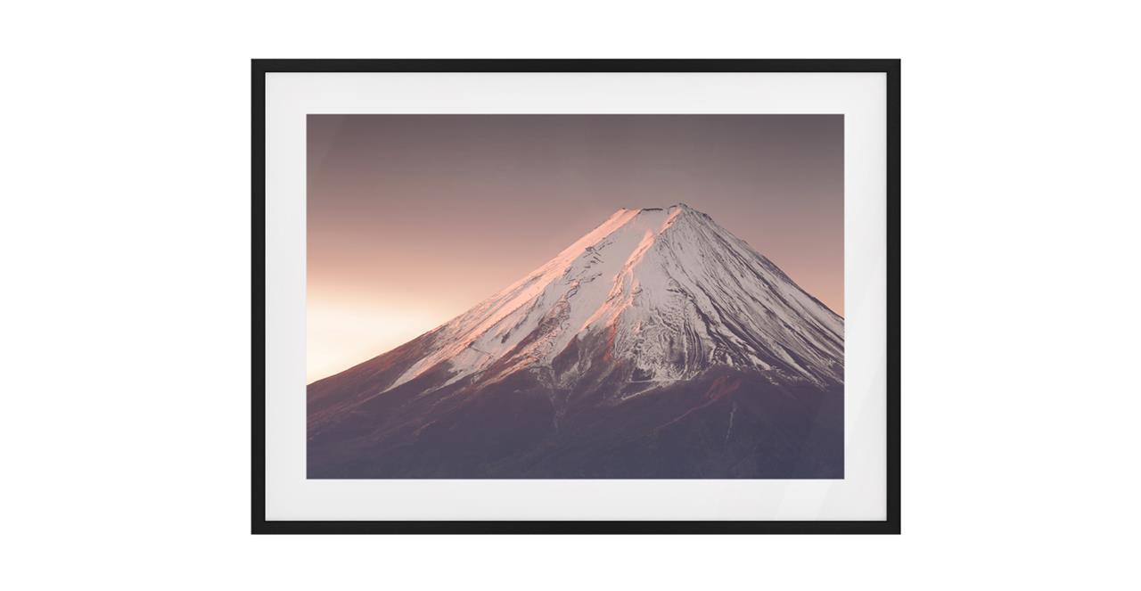 The Climb Print Black Wood Frame Small