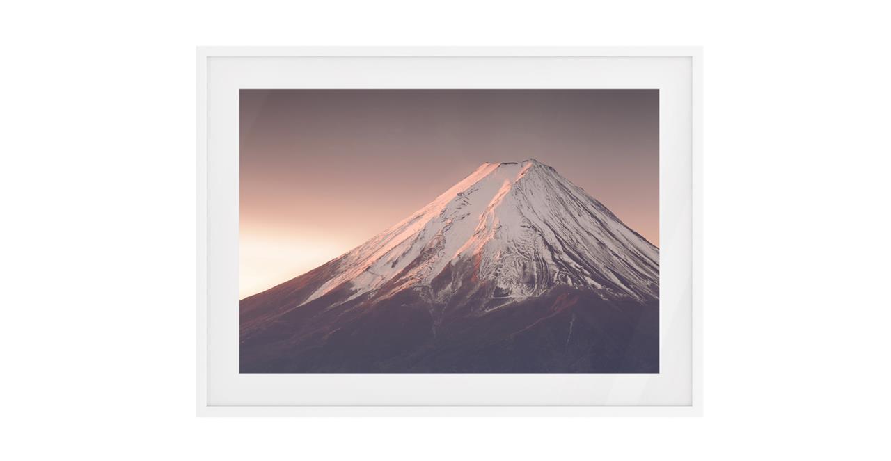 The Climb Print White Wood Frame Small