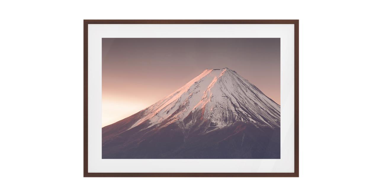 The Climb Print Dark Brown Wood Frame Small