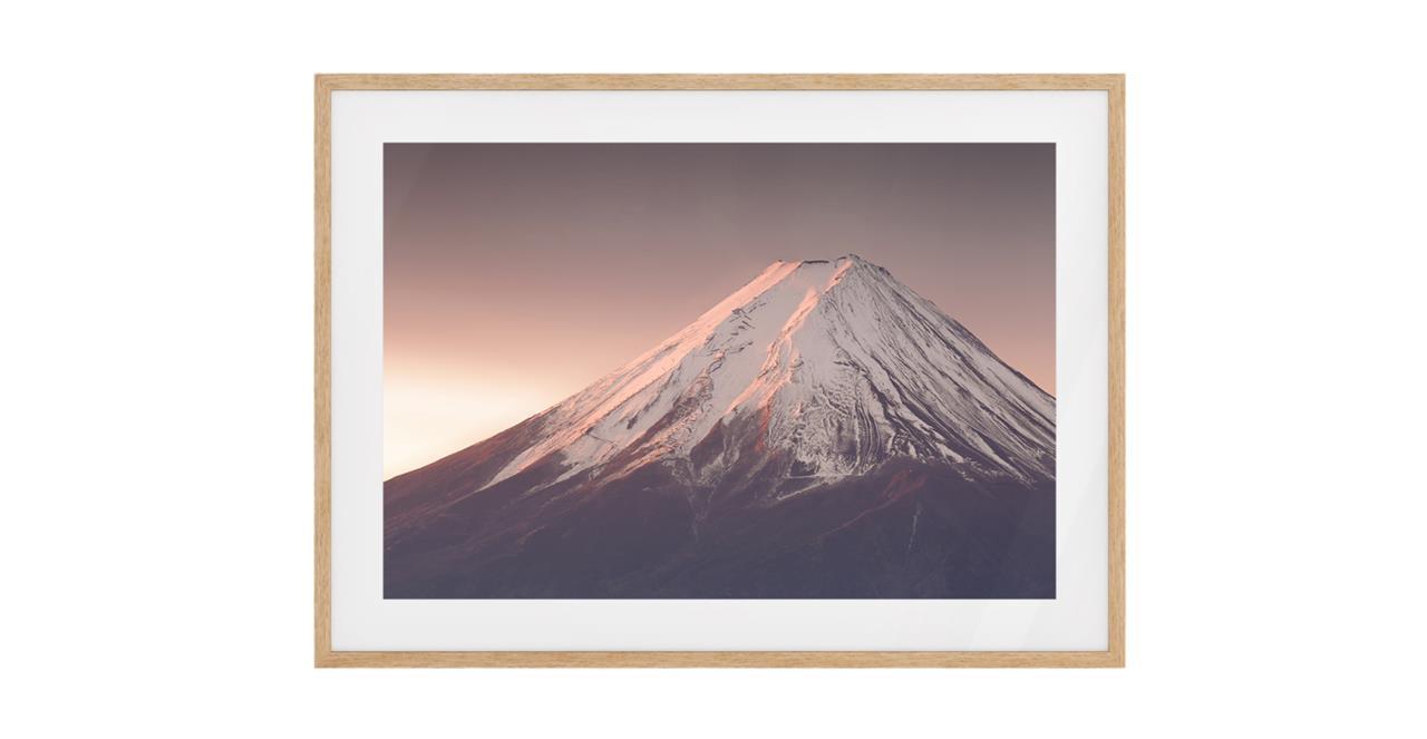 The Climb Print Natural Wood Frame Medium