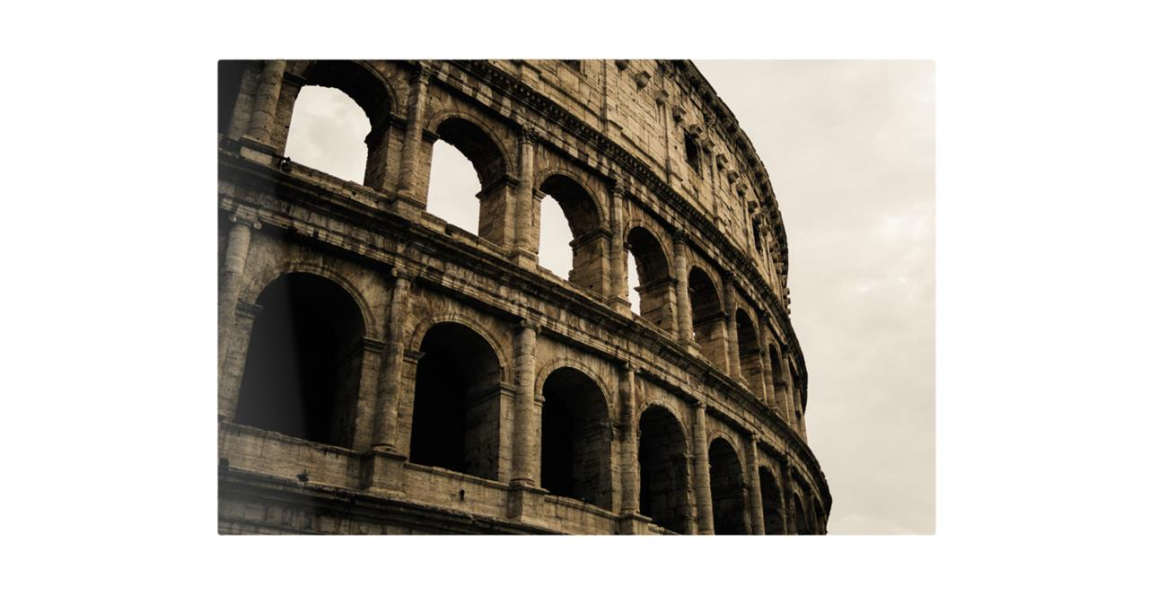The Colosseum Print Metal Print Small