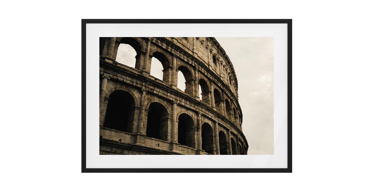 The Colosseum Print Black Wood Frame Medium