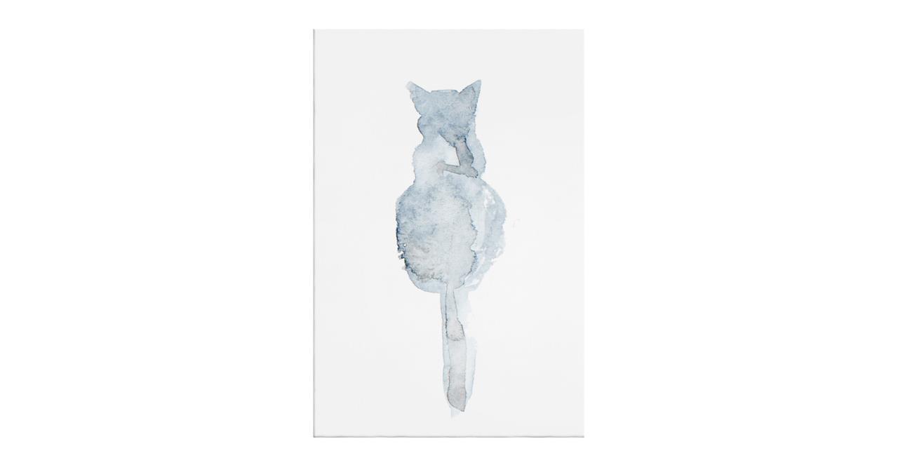 The Cornflower Cat Print Canvas Small