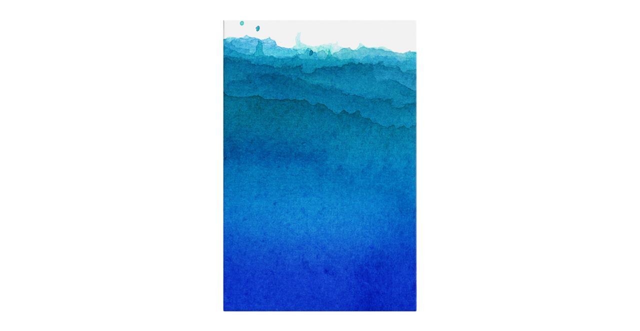 The Cyan Print Canvas Small Cobalt
