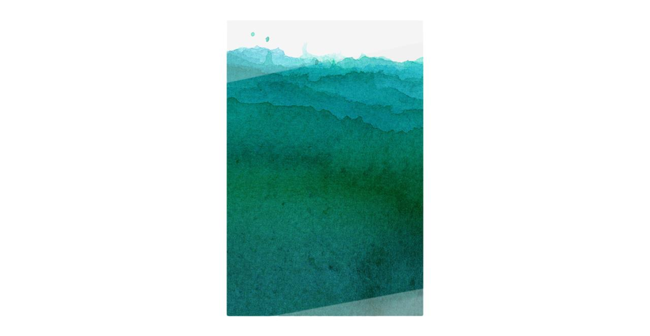 The Cyan Print Metal Print Medium Ocean