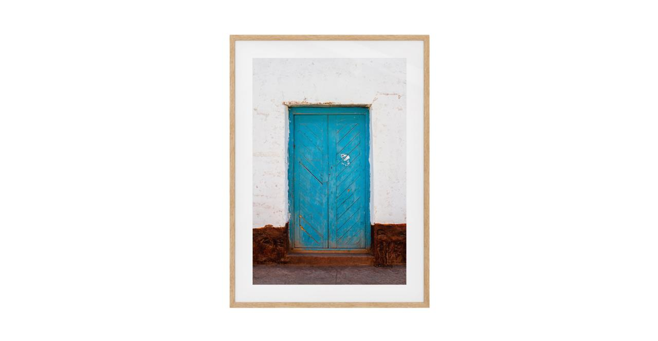 The Doorway Print Natural Wood Frame Small