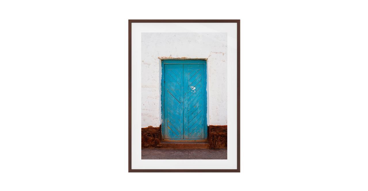 The Doorway Print Dark Brown Wood Frame Small
