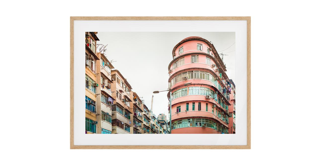 The Downtown Print Natural Wood Frame Small