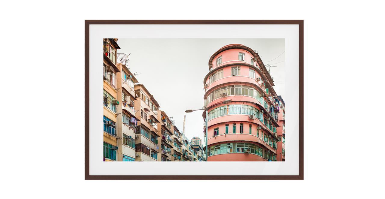 The Downtown Print Dark Brown Wood Frame Medium