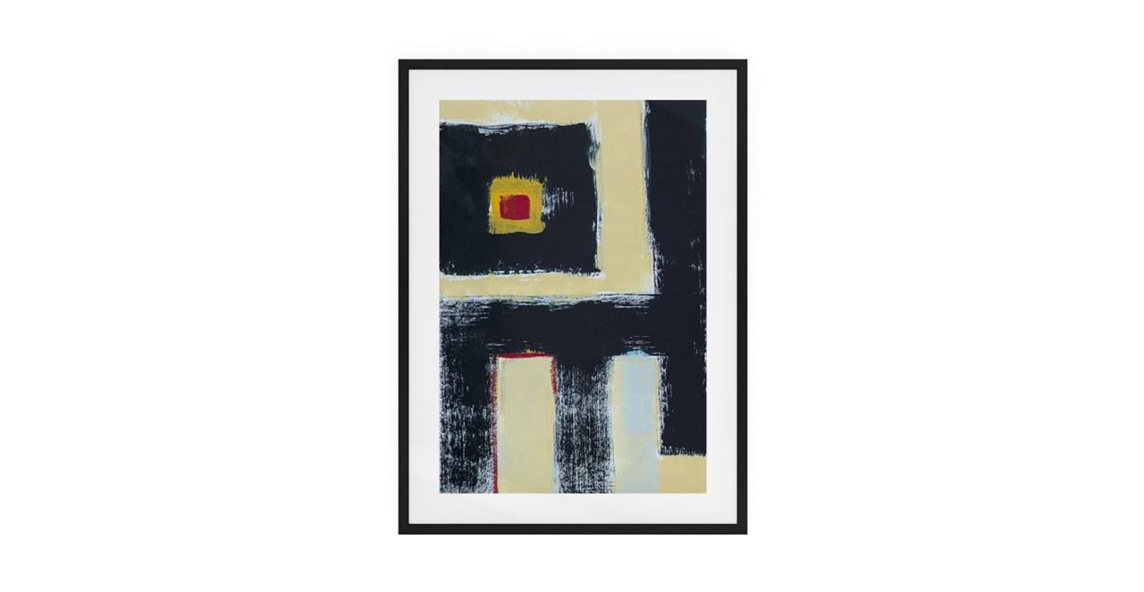 The Farbe Print Black Wood Frame Small Black
