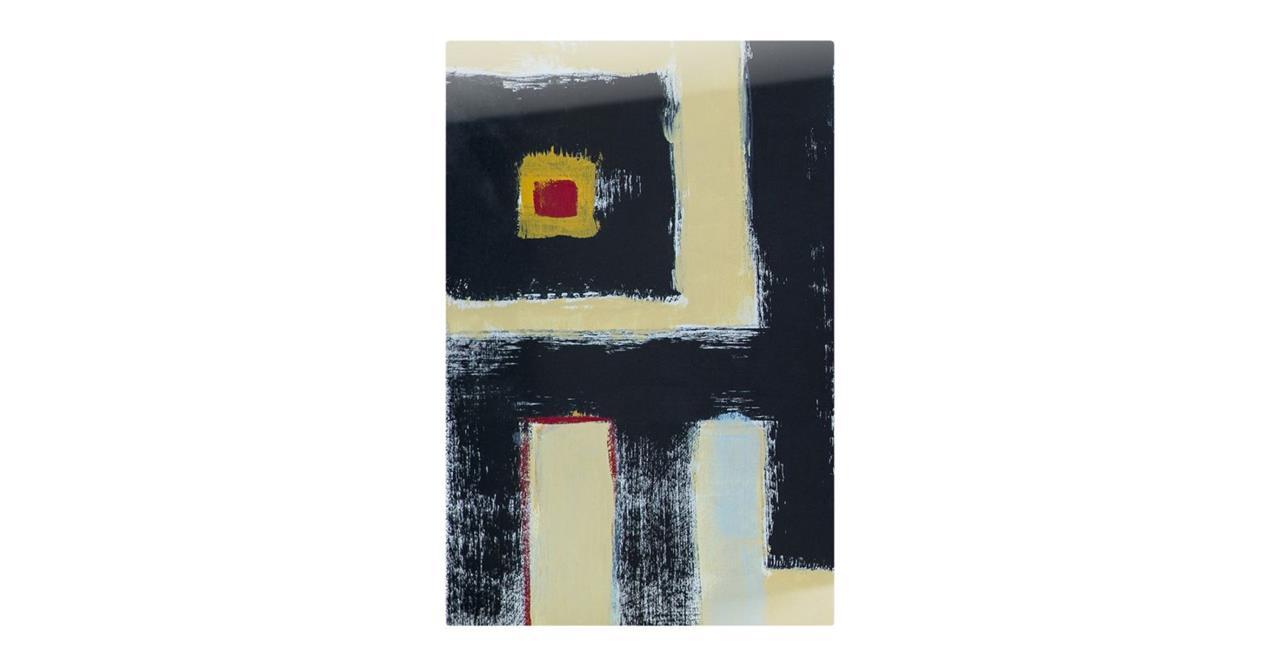 The Farbe Print Metal Print Small Black