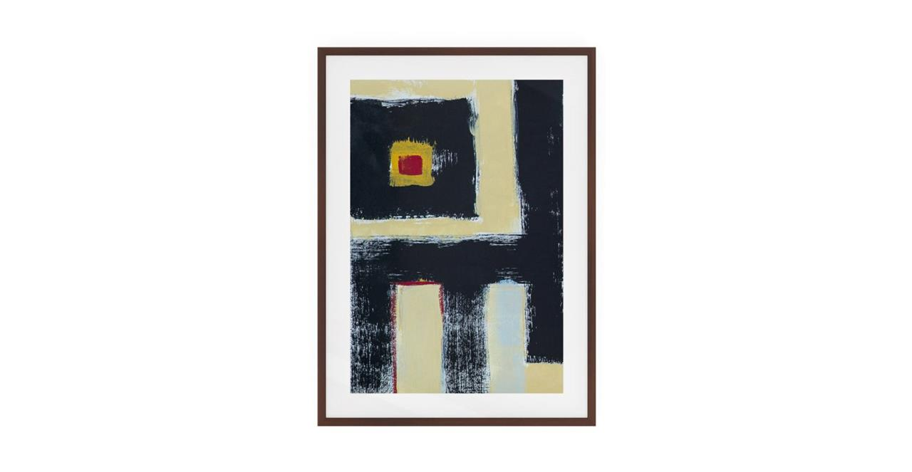 The Farbe Print Dark Brown Wood Frame Medium Black