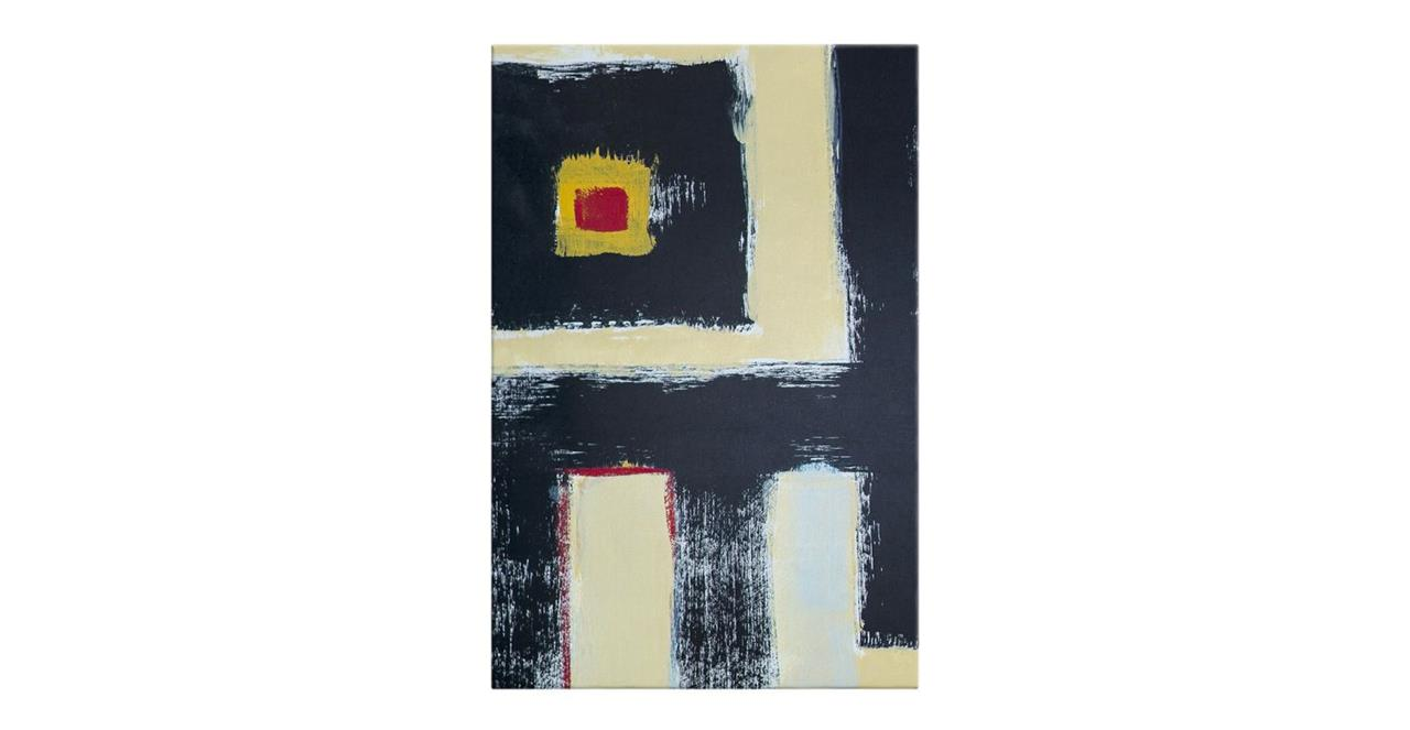 The Farbe Print Canvas Medium Black