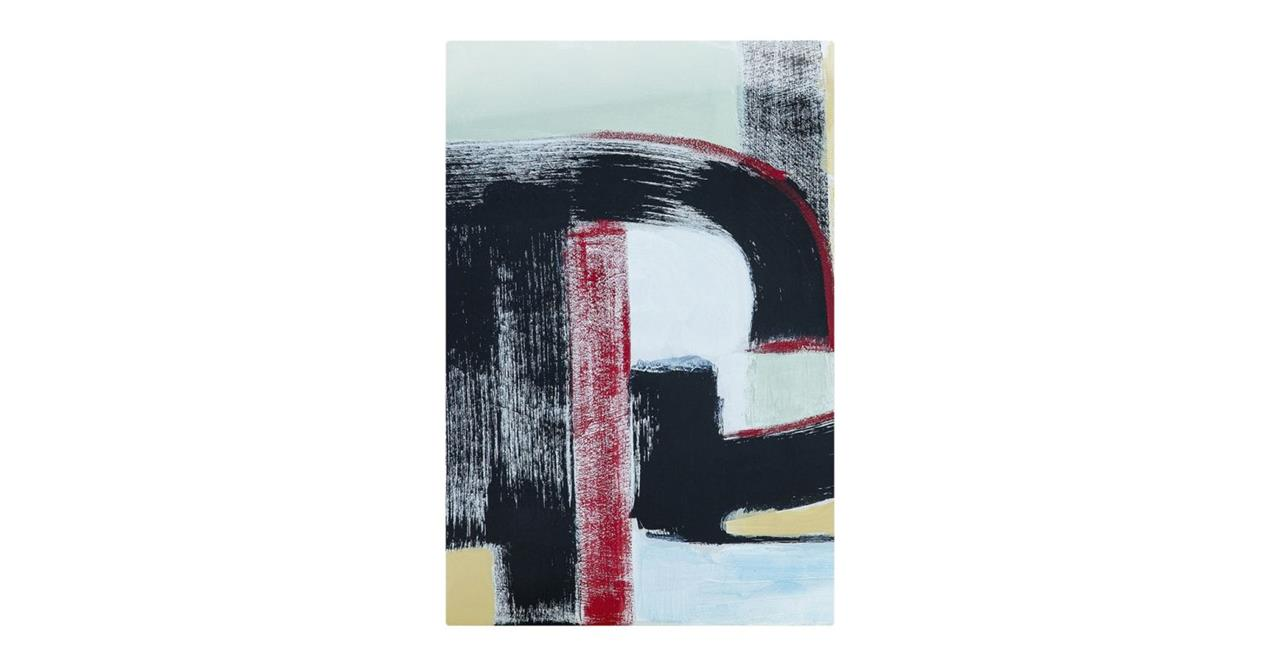 The Farbe Print Metal Print Small Red