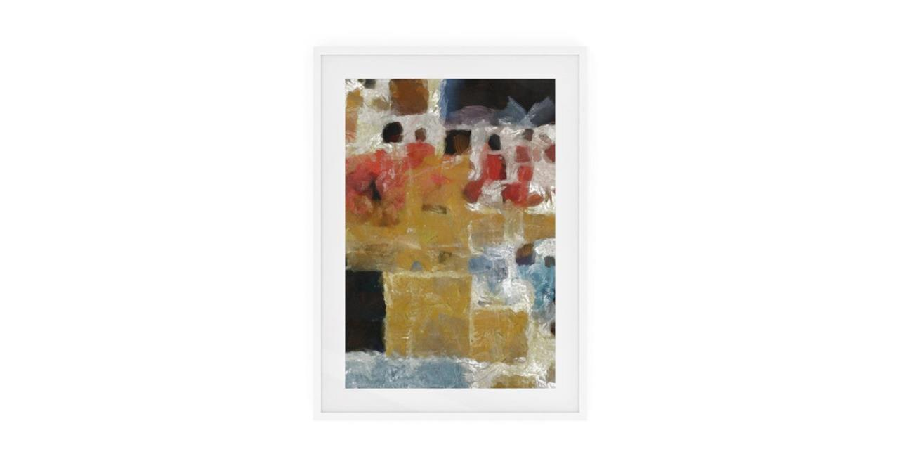 The Mosaic Print White Wood Frame Small Two