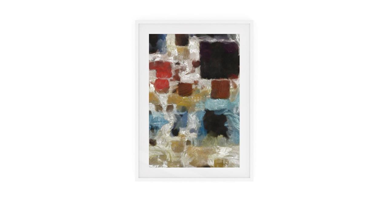 The Mosaic Print White Wood Frame Medium Three