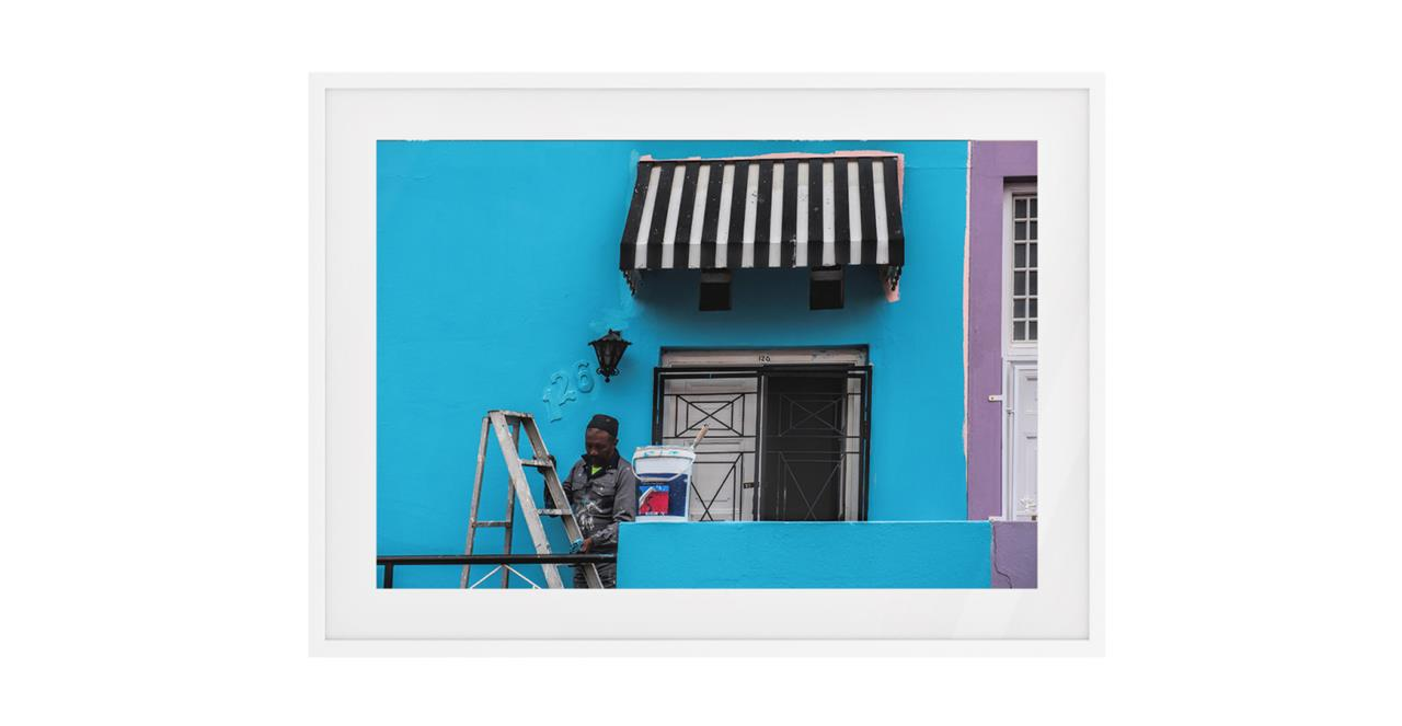 The Neighbourhood Print White Wood Frame Small