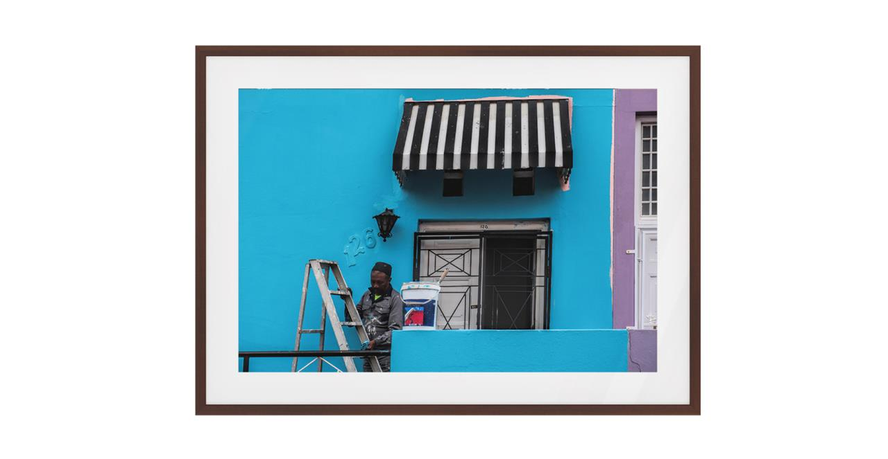 The Neighbourhood Print Dark Brown Wood Frame Small