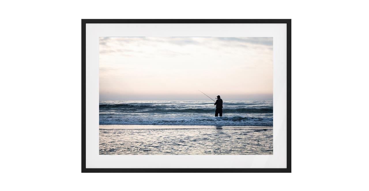 The Ocean Print Black Wood Frame Small
