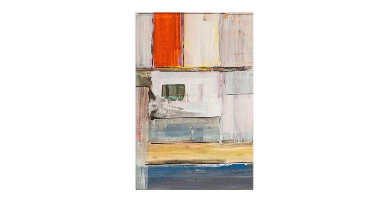 The Panels Print Canvas Medium Red